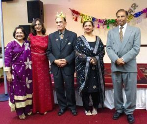 Paru McGuire with the King and Queen for 2017– Khalid Rizvi and Tasneem Khan