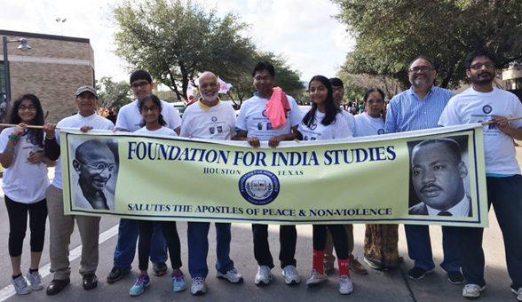 Participants in the parade were :Kulwant Bhatia, Atul Kothari, Satish Saridey, Sai Aakarsha Saridey, Thrayee Sai Saridey, Rajender Aparasu, Shravya Aparasu, Saureesh Aparasu, Krishna Vavilala (FIS Chair), Lakshmi Vavilala, Raghavender Nednur (Event Chair), Kranthi Nednur, Apoorv Nednur.