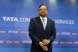 Natarajan Chandrasekaran is only the third person without the Tata name to get the job, and the first without a close family tie to the Tatas. Photo: AFP