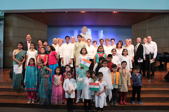 Mahatma Gandhi Library and Unity of Houston jointly observed Shraddhanajli, Memorial Service, in collaboration with Arya Samaj Greater Houston, Interfaith Ministries of Greater Houston, The Ismaili Jamatkhana Center and Brahma Kumaris on Saturday, February 4, at Unity of Houston. It was the commemoration of the 69th death anniversary of Mahatma Gandhi.