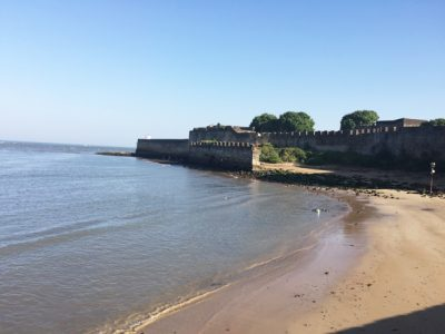 Diu fort has impressive ramparts, massive gates and a moat on the land side.