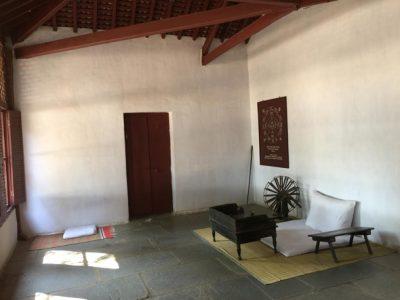 Mahatma Gandhi's ashram in Ahmedabad is located adjacent to the Sabarmati River. Gandhi's spartan room is seen here.