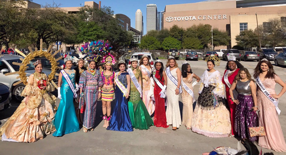 Beauty queens representing all the ethnic groups in Houston walked in a parade at the fourth annual Houston Creole Heritage Festival this past Saturday, February 25. The parade of beautiful ladies was organized by Sangeeta Dua (second from right), of TV Houston and host of the Diversity Talk Show.