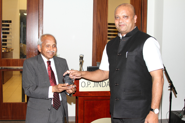 NSF Founder, Dr. Ratnam Chitturi (left) with Consul General of India, Dr. Anupam Ray.