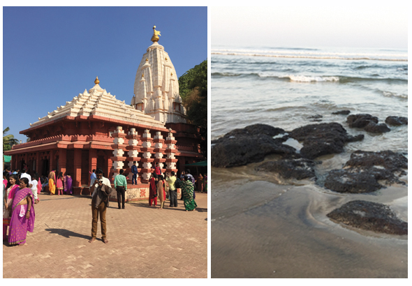 While Goa is the major tourist destination, the beaches near Ganapatipule are exquisite as well. The oceanside Ganesh temple at Ganapatipule was a favorite place of worship for Madhavrao Peshwa's wife, Ramabai.