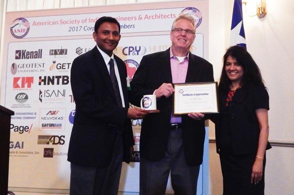 ADS Seminar Presenter Nelson Stone with ASIE Board Member Sirish Madichetti and TV Asia Representative Manisha Gandhi