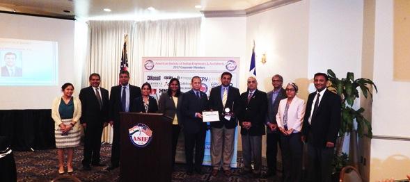 Shashi Kumar with ASIE Board Members
