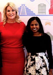 Keynote Speaker Stephanie von Stein (left) with Daya Executive Director- Rachna Khare.