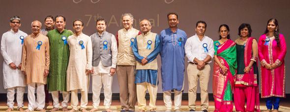 Board of Directors of Hindus of Greater Houston, from left: Vijay Pallod, Sharad Amin, Girish Naik (back) Partha Krishnaswamy (President), Bhagwan Bhutada, Vinod Mantri, Swapan Dhairyawan,Tupil Narasiman, Sanjay Jain (Treasurer), Sanjay Jajoo, Thara Narasimhan (Secretary), Bhawna Luthra and Richa Dixit (Secretary).