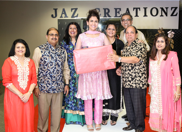 The ICC Board presented Jasmeeta with a token of their gratitude