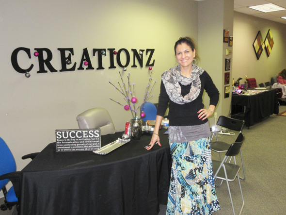 Jasmeeta Singh, founder of Jaz Creationz in her studio on Richmond Ave at S. Gessner.