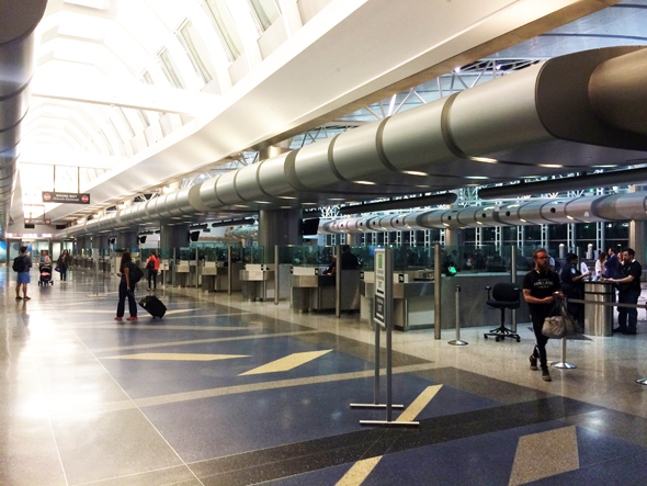 Houston's Intercontinental Airport Immigration Hall