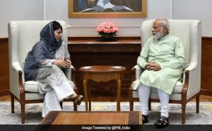 Chief Minister Mehbooba Mufti met PM Narendra Modi today over the situation in Jammu and Kashmir