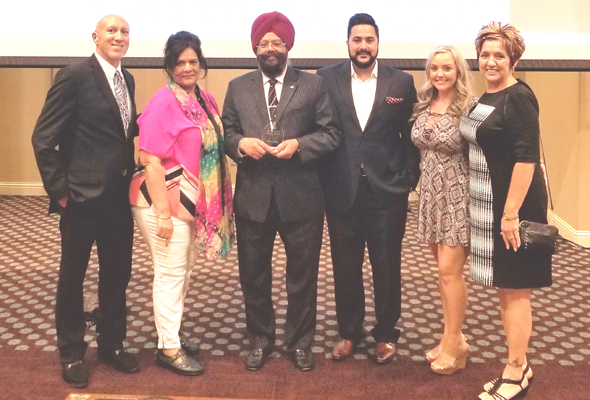 From left: John Rocca, Seema and Harjit Galhotra, Balraj Galhotra, Kayla Fisher, Denise Rocca