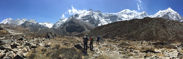 First view of Mera on our way to base camp in Khare.