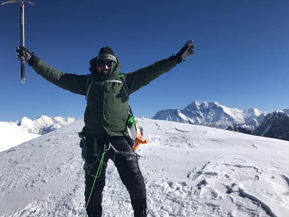 Rick Pal, on the summit on April 29, 2017.