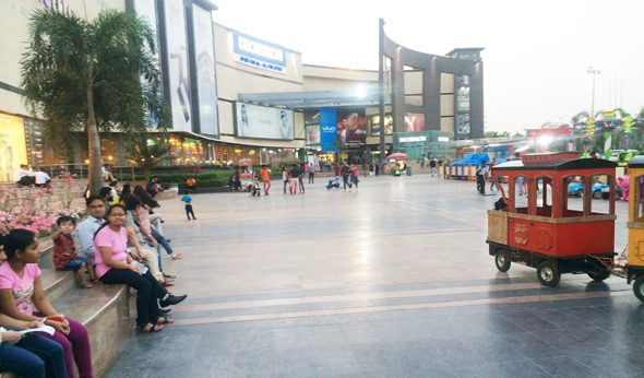 The Pacific Mall in Subhahsh Nagar is an oasis of modern shopping.
