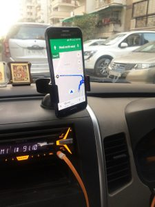 Most Uber and Ola drivers use a smartphone and GPS to get around