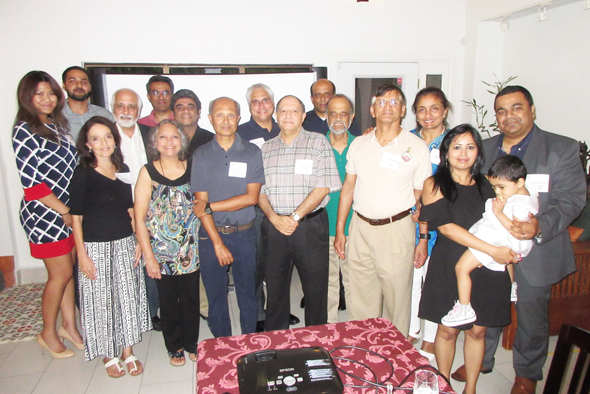 Dalal and his wife met with other alumni of Lawrence School over dinner and to explain the process behind his popular adventures books set in India.
