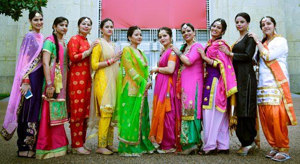 Some of the participants in a gidha dance. Photos: Kanha Arts, Ravi Grover