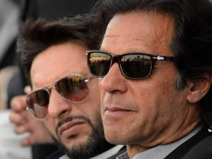 Imran Khan hit out at the Pakistan cricket establishment in a series of tweets.
