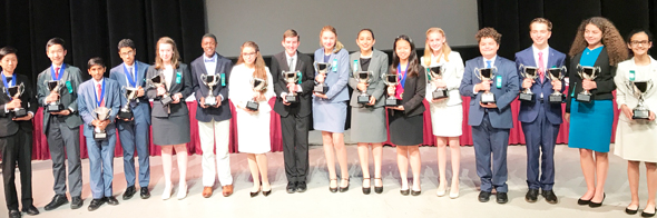 National Champions in all Speech / Debate events - 3rd from Left Vedanth Ramabhadran, 4th from Left Omar Busaidy