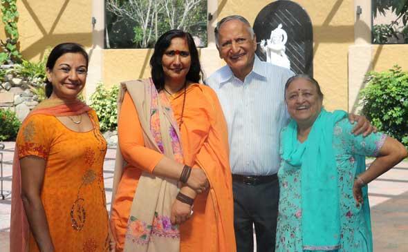 From left: Rohini Gupta, Didi Ma, Braham Aggarwal, and Krishna Aggarwal.