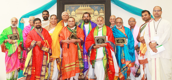 Priests honored at the conference.