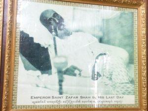 Bahadur Shah Zafar on his death bed