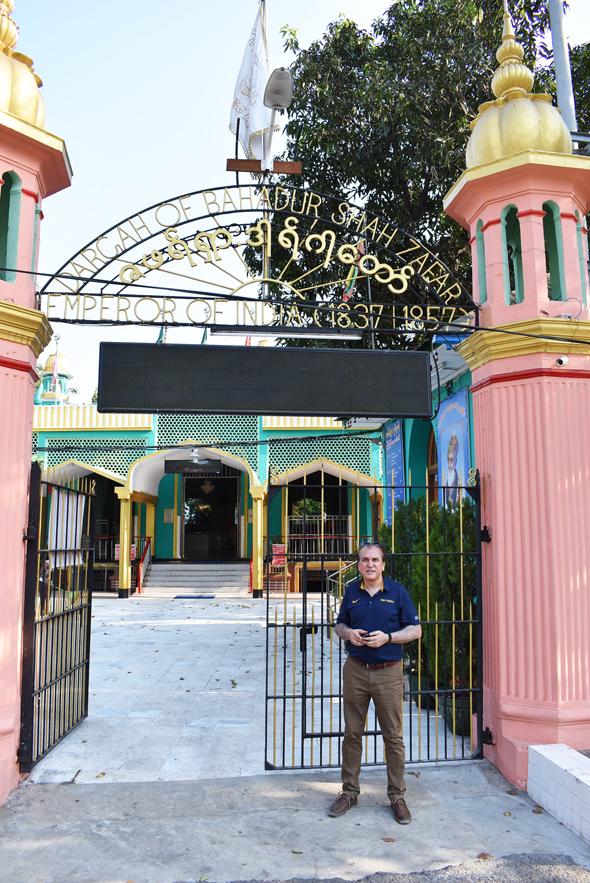 The mausoleum to the last Mughal Emperor Bahadur Shah Zafar is located not far from the Schwedagon Pagoda in Rangoon.
