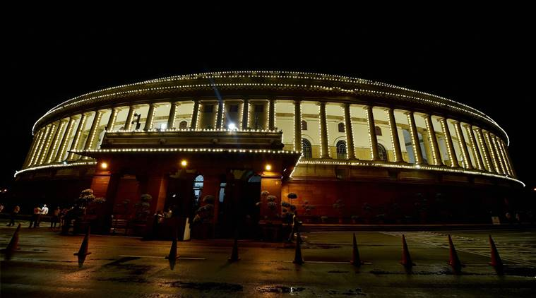 New Delhi: An illuminated Parliament ahead of midinight launch of 'Goods and Services Tax (GST)' in New Delhi on Saturday. PTI Photo by Manvender Vashist  (PTI6_30_2017_000233B)