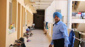 Oberoi at the Dubai labour camp he owns (Photo: Varinder Bhatia)