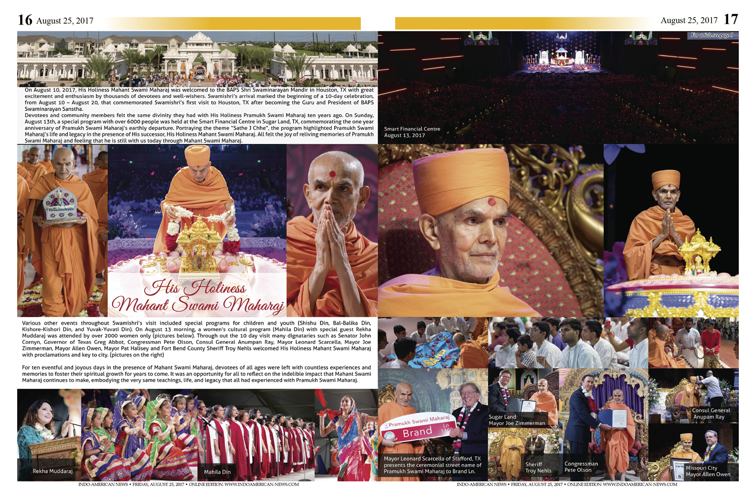 Spirituality Inspiration And Joy With His Holiness Mahant Swami
