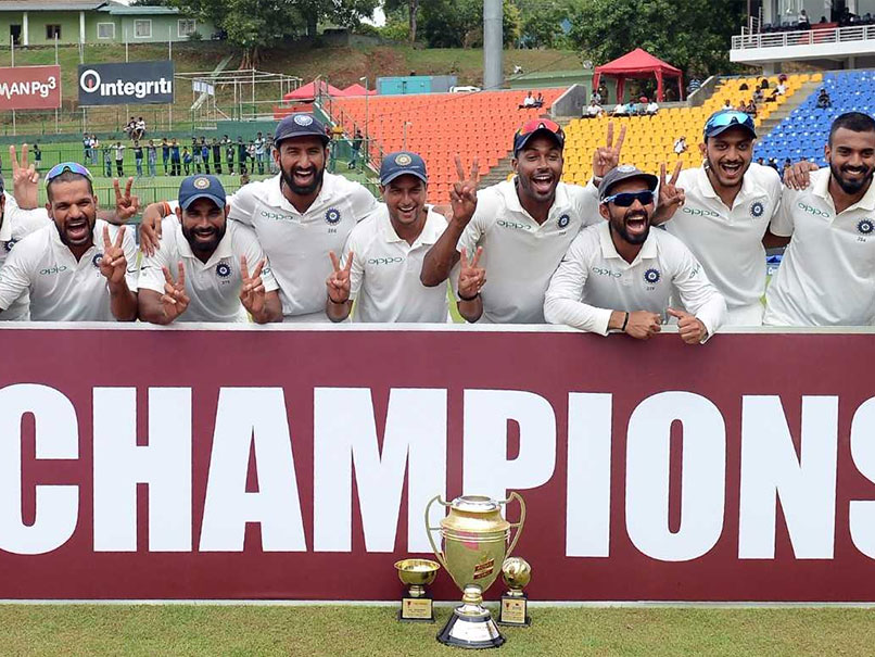 India beat Sri Lanka by an innings and 171 runs in the third Test to win the series 3-0.