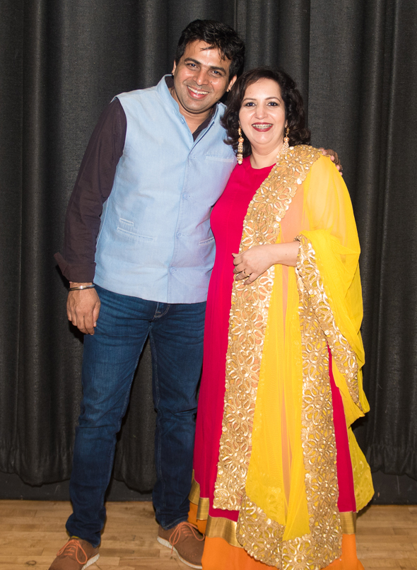 Amit Tandon with Harpreet Chawla-Suji of Paani Poori Productions.