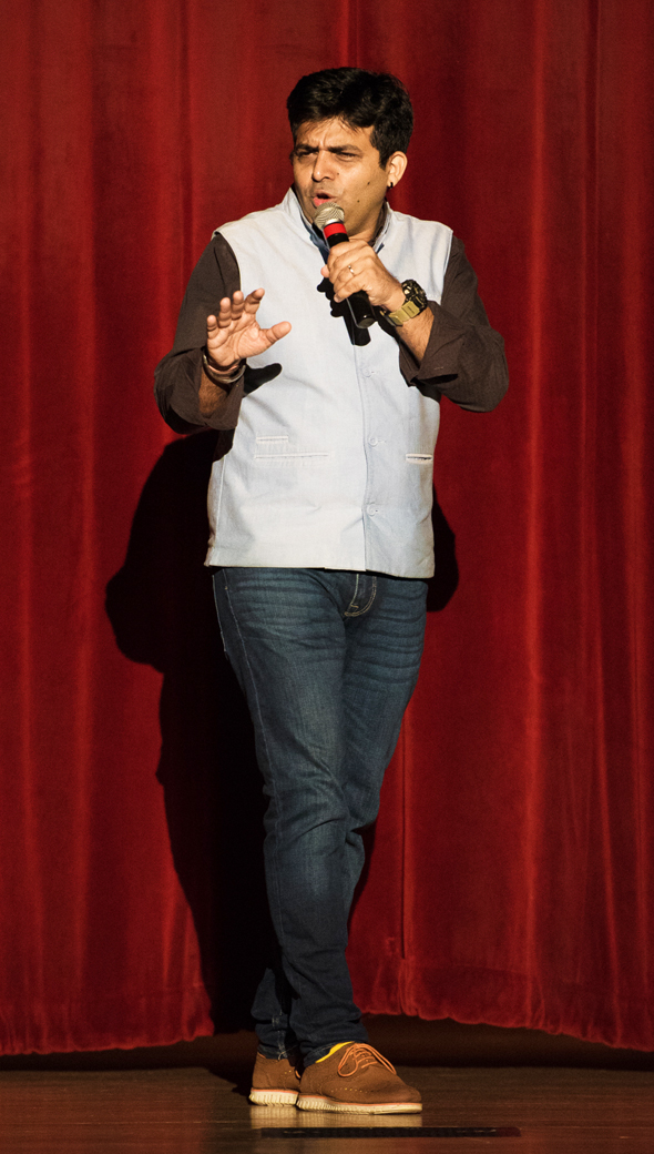Amit Tandon at the Old Stafford Civic Center on Friday, September 22