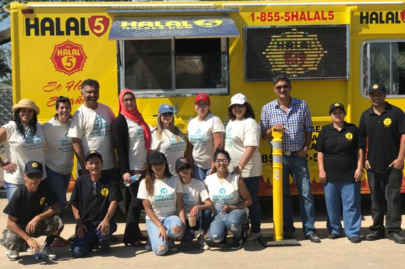 Katy Wellness Center and Family Physicians at the Canyon Gate community in Cinco Ranch, coordinating efforts with the food truck Halal 5