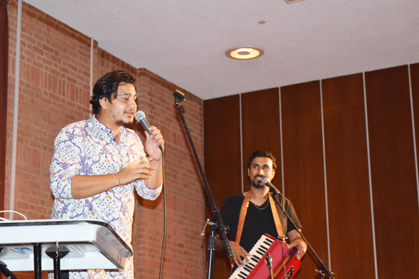 Fusion artist and rapper Gaura Karuna with Ram Das