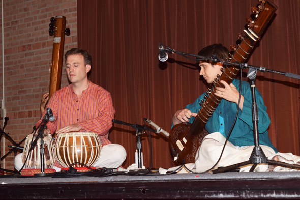 Justin Laseiwicz on Tabla and Shane Monds on Sitar