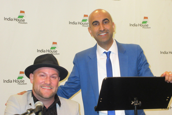 Raj Satyal performed his comedy routine during the Houston stop on his 17-city Taking a Stand tour. Satyal was accompanied by singer/songwriter Taylor Anderson.