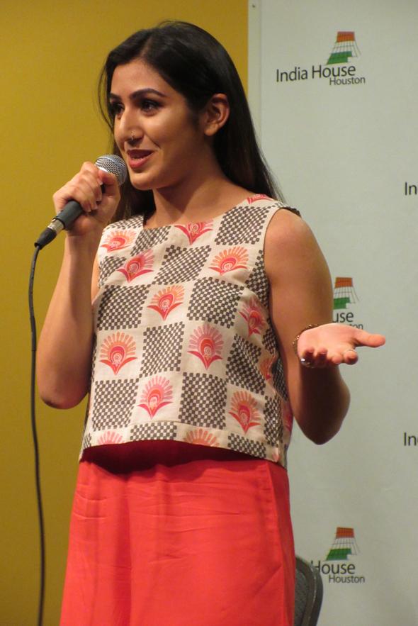 Aspiring singer Shreya Kaul was the lead in for Rajiv Satyal's Houston show