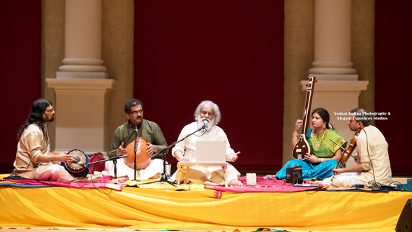 Indian classical and devotional musician and film playback singer K.J. Yesudas performed at a fundraiser for the Chennai-based Sankara Nethralaya hospital on Sunday, September 17, at Lassiter High School, in Marietta, Georgia.
