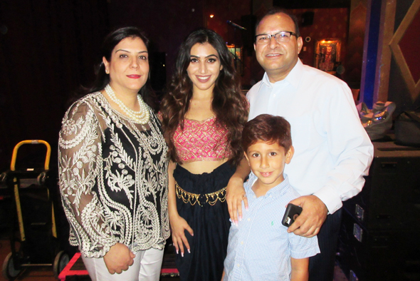 Shreya Kaul (center) at the EP Release party at The House of Blues with her parents Sunita and Surinder Kaul and her little brother Krish. Shreya launched her new EP on September 1 on iTunes, Apple Music and Spotify.