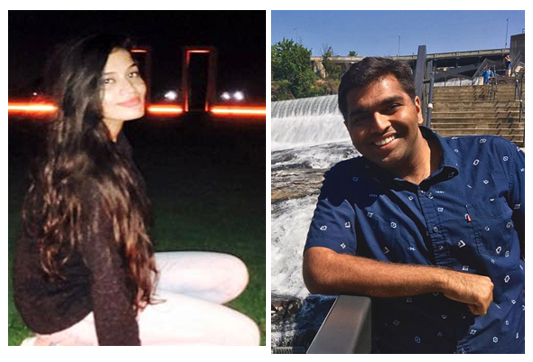Shalini Singh, 25, and Nikhil Bhatia, 24, were victims of a drowning accident in the choppy waters of Lake Bryan as Hurricane Harvey was passing over the College Station area.