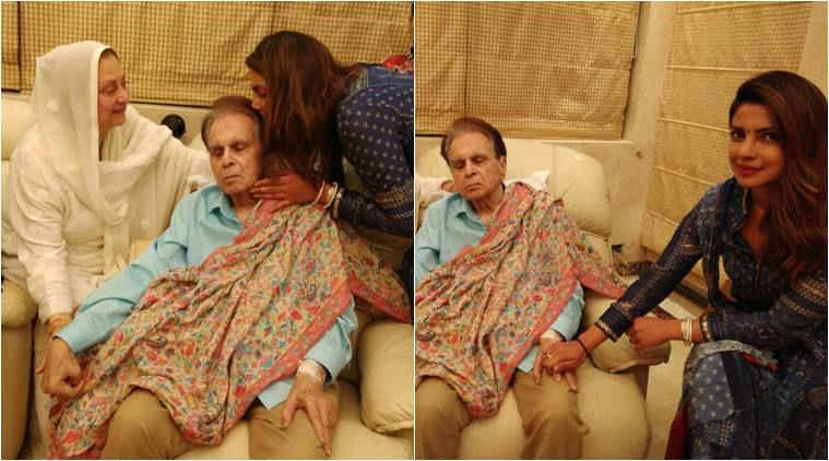 Priyanka Chopra paid a visit to Dilip Kumar and Saira Banu's residence.