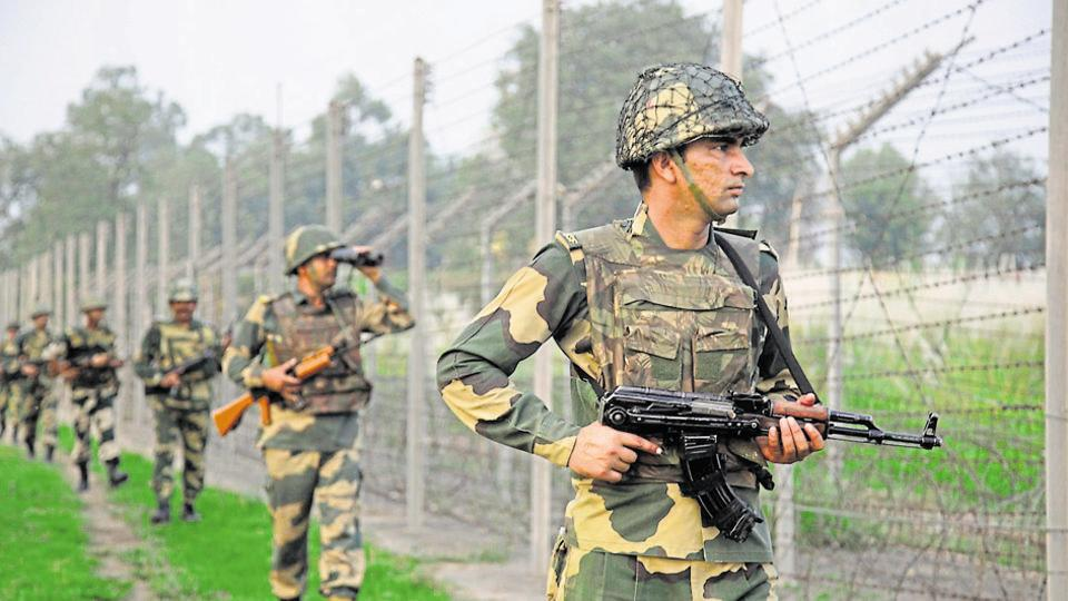 Border Security Force soldiers patrol the India-Pakistan border. (AP File Photo)