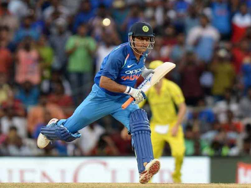 MS Dhoni survived a massive run out scare in the 22nd over of India's innings.