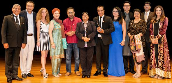 IFFH Board Members with the winners of IFFH Awards 2017, Suman Ghosh and Navroz Prasla.