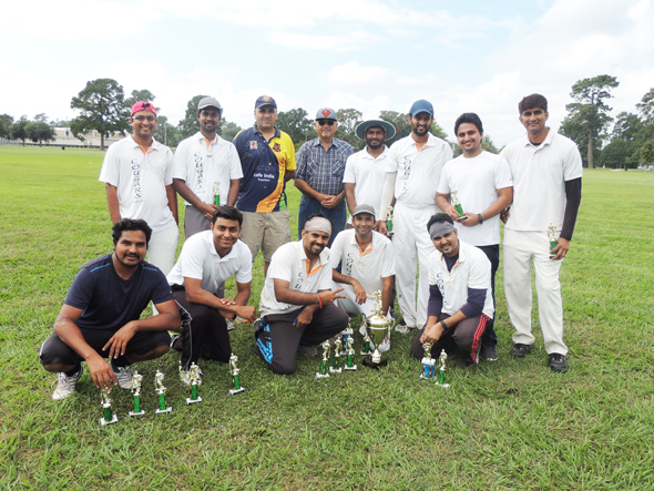 Runners up Cougars with Chief Guest Malay Vyas and his father.