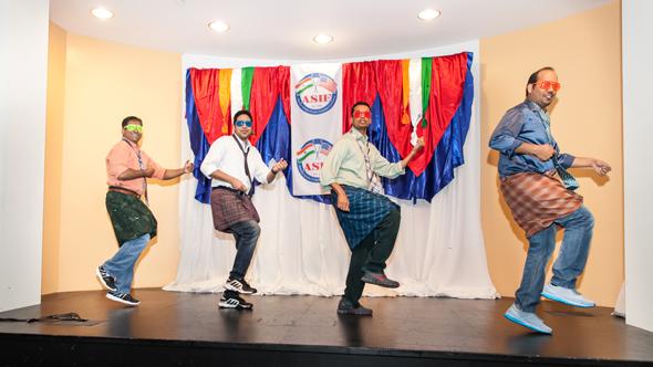 Lungi Dance performed by ASIE members.